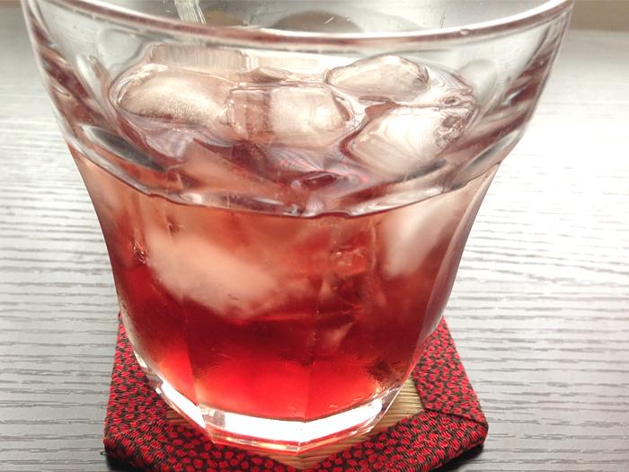 男梅の酒ロック