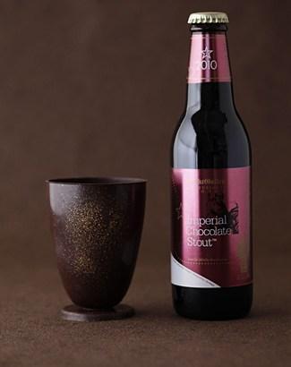 チョコレート製グラス&チョコビール