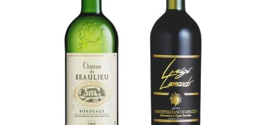 「LUIGI-LEONARDO-MONTEPULCIANO-D'ABRUZZO(イタリア)」&「CHATEAU-DE-BEAULIEU-BLANC(フランス)」