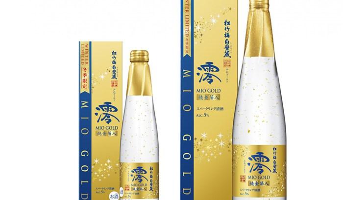 """パーティーにぴったり!金箔入り""""松竹梅白壁蔵「澪」<GOLD>スパークリング清酒""""発売!"""