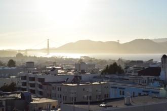 Atardecer en San Francisco con el Golden Gate al fondo
