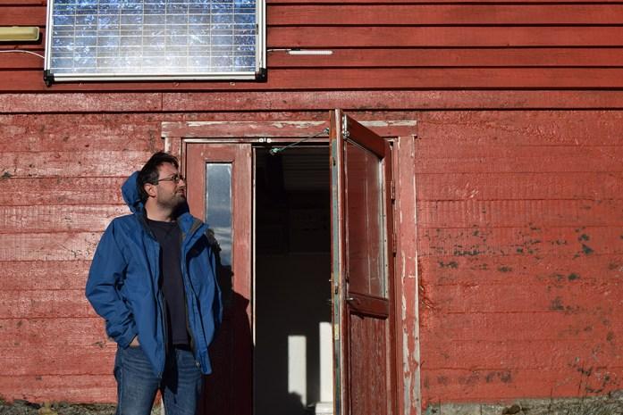 Entrada a nuestra cabaña en Kerlingarfjöl