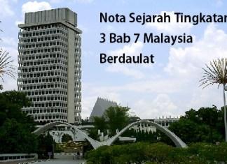 Nota Sejarah Tingkatan 3 Bab 7 Malaysia Berdaulat