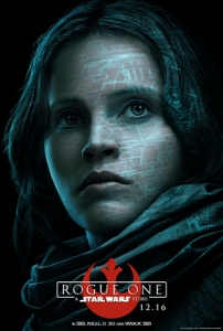 Felicity Jones as Jyn Erso in Rogue One a Star Wars story