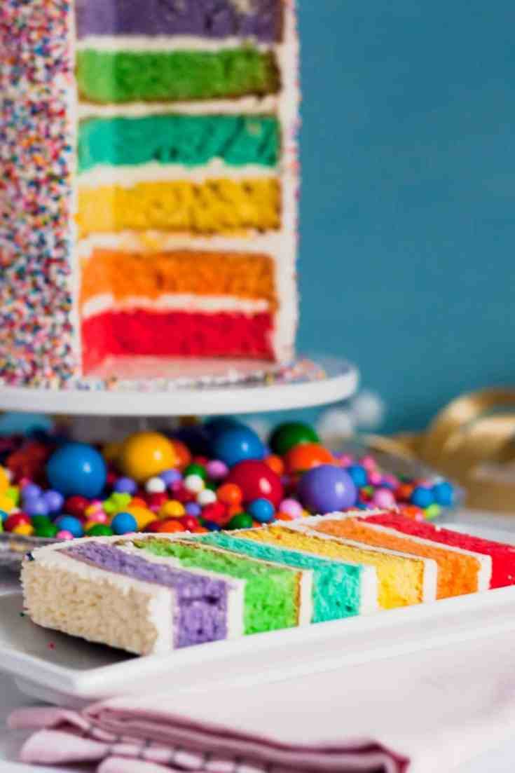 How to Decorate a Rainbow Cake