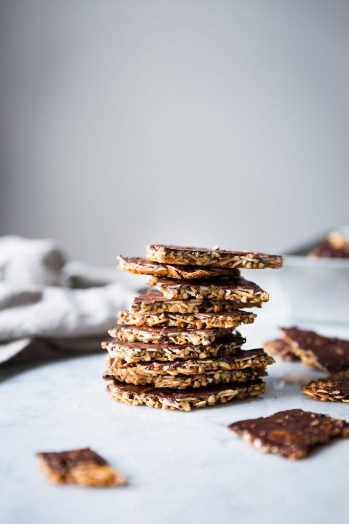 Almond Buckwheat Chocolate Brittle