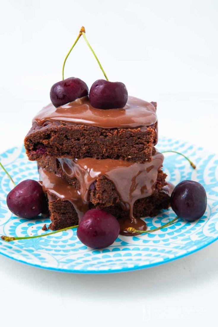 Gluten-free Cherry Brownies