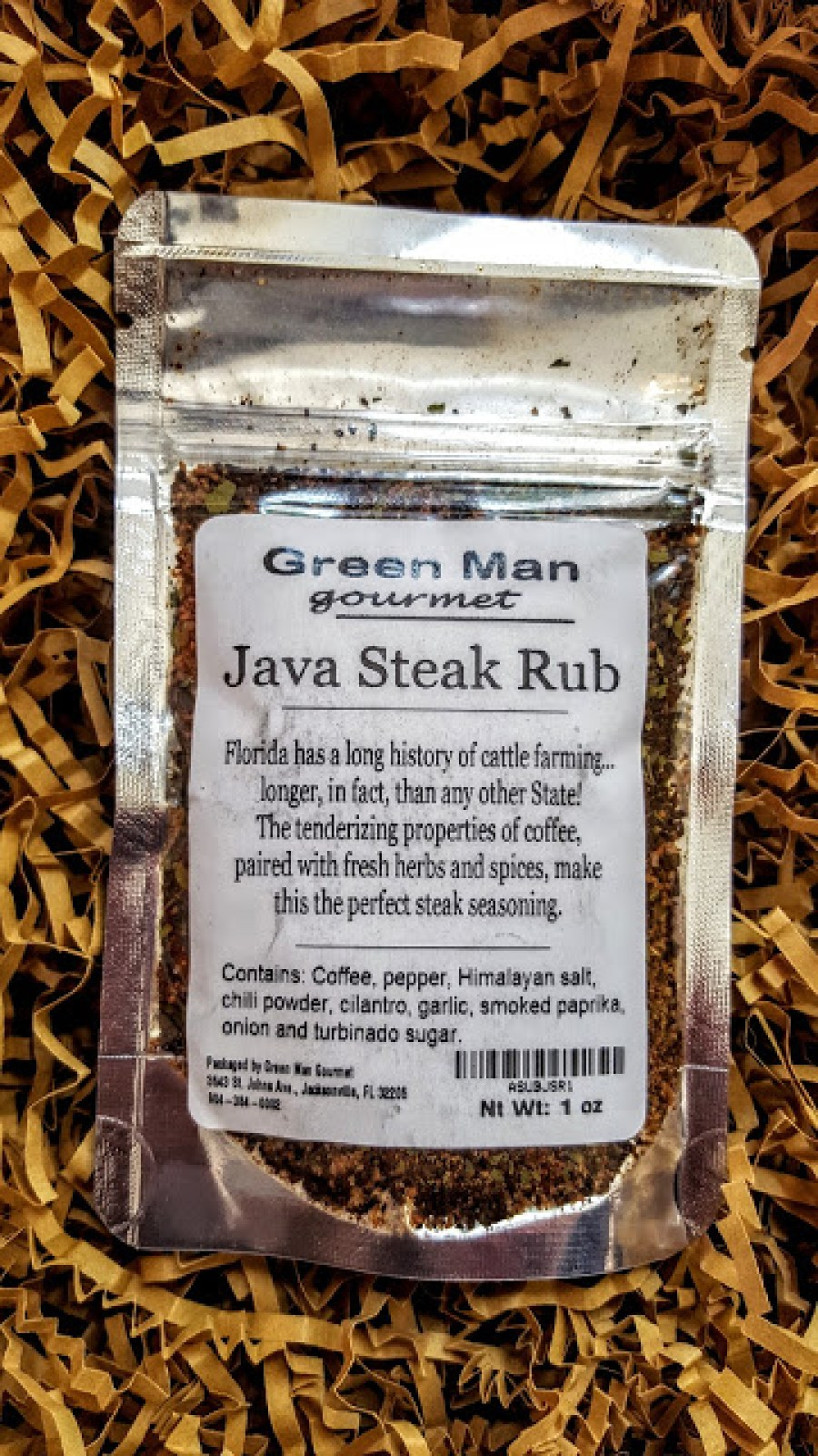 green man gourmet java steak rub