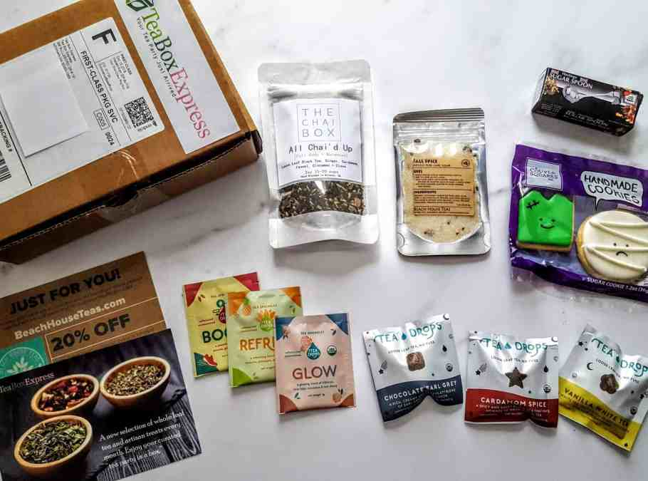 what's in october tea box express