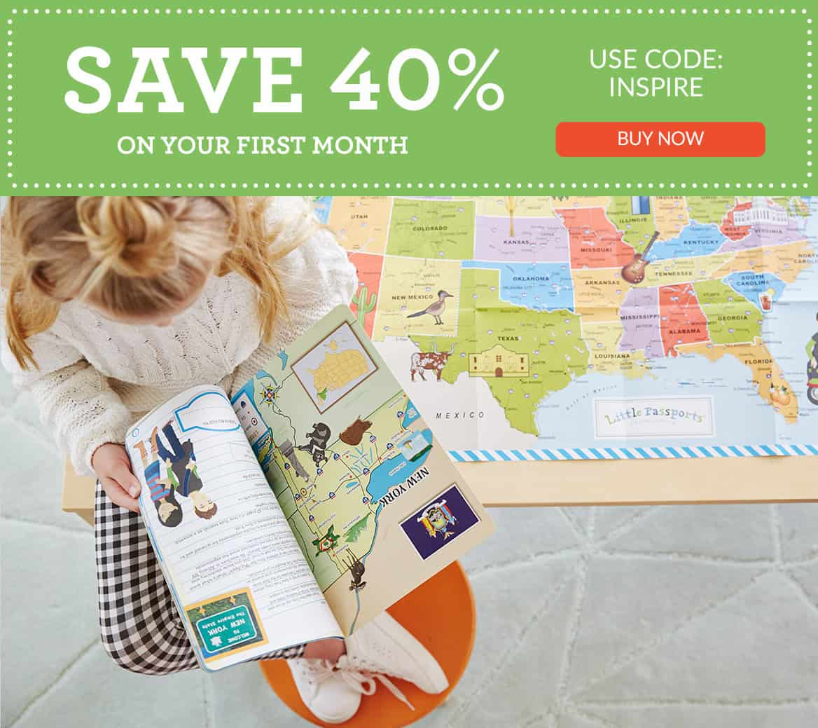 Save 40% on your First Month of Little Passports Children's Subscription Box