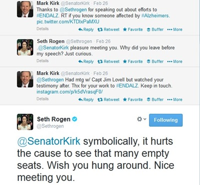 seth rogen and senator kirk tweets