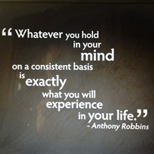 law of attraction - anthony robbins quote