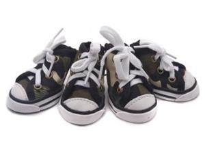 dog camo shoes