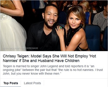 chrissy teigen - john legend - hot nannies