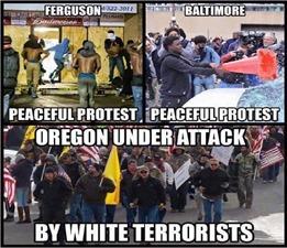 peaceful protest versus riot