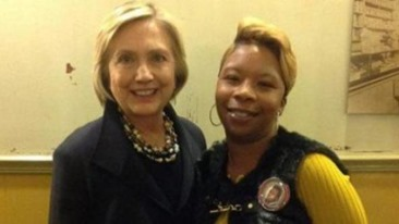 Hillary Clinton and Mike Browns mother Lesley McSpadden