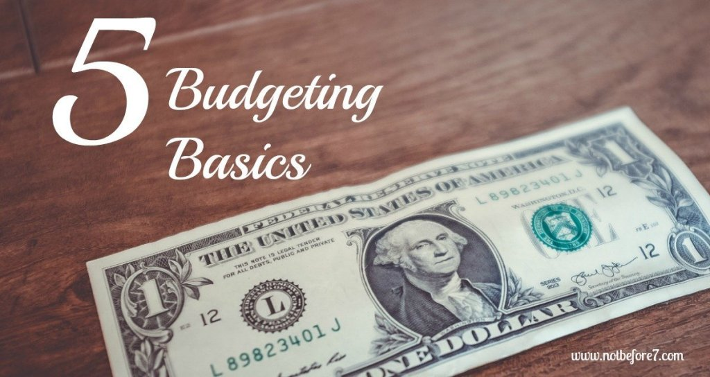 5 basic budgeting tips for keeping to a budget.
