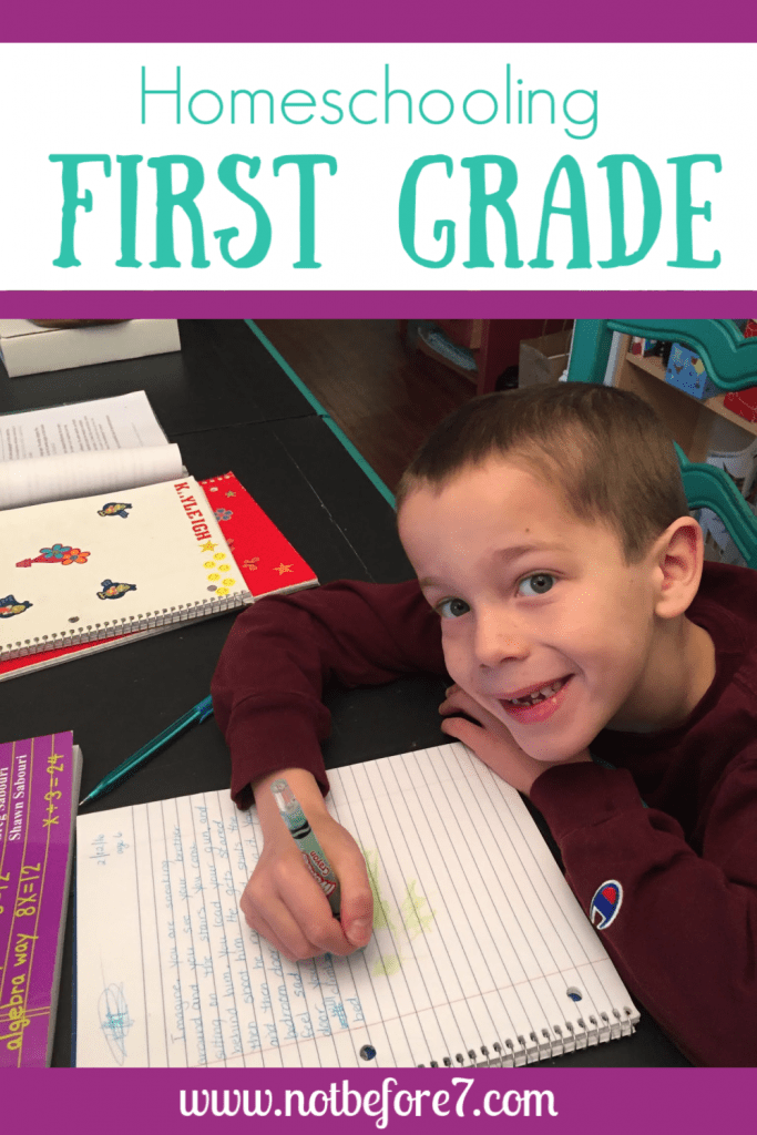 Here is what first grade looks like in our homeschool.