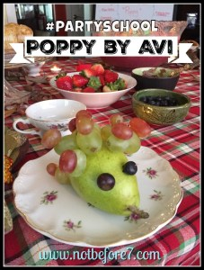Ideas to host a party school book club for Poppy by Avi.