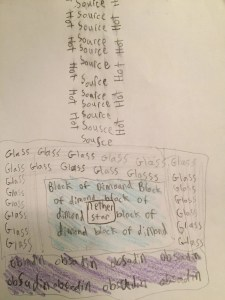 A concrete poem activity from our Brave Writer Arrow Guide.
