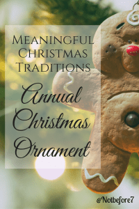Our Annual Christmas Ornament is a tradtion that we hope will continue for generations to come. Our ornaments help tell a piece of our story.