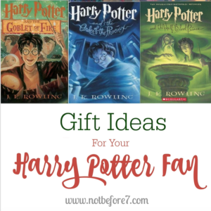 A great list of gift ideas for the Harry Potter fan in your life!
