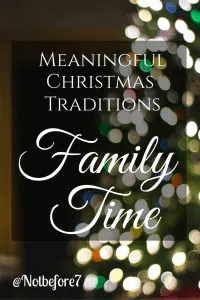 Check out some great ideas for making family time part of your Christmas Season.