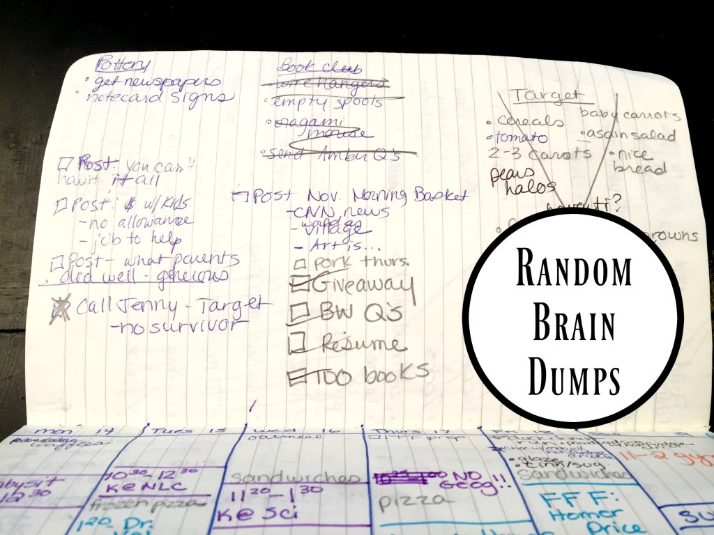 Random Brain Dump section of my Bullet Journal.