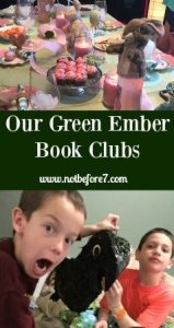 Ideas for both boys and girls book clubs discussing the book: The Green Ember.