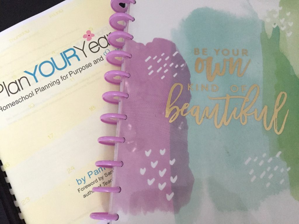 Homeschool Planner and the Happy Planner together in one system.