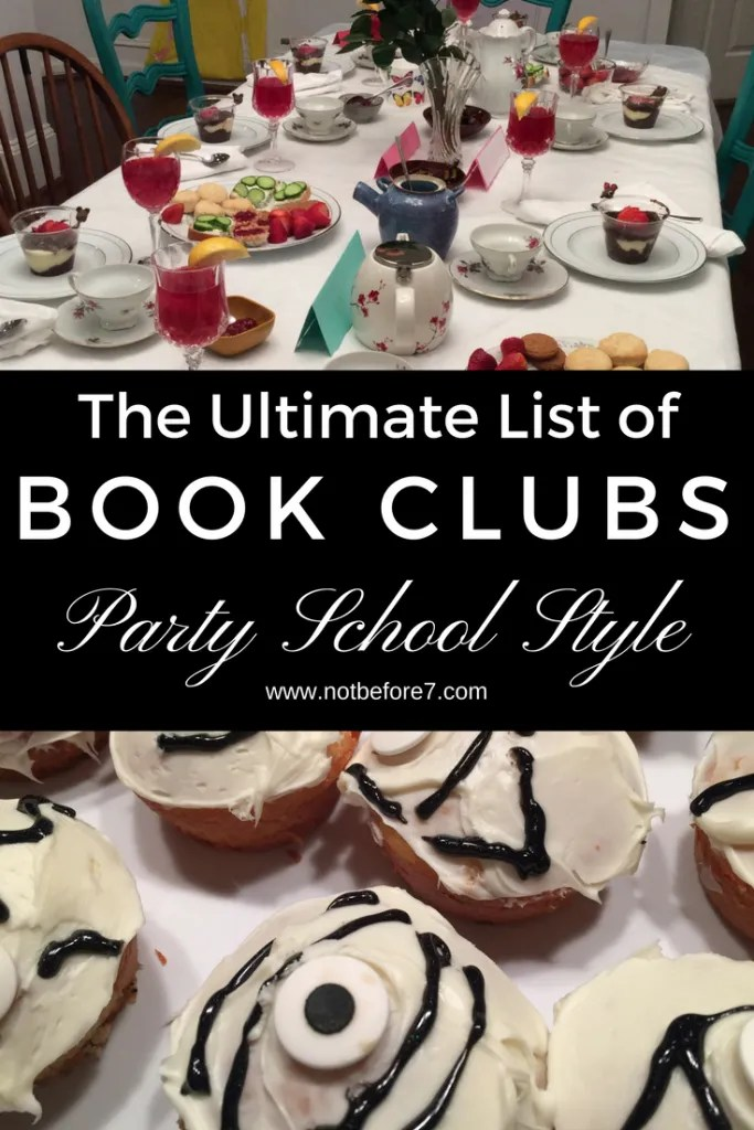 All of my party school book club are here so you can pick and choose the titles you want to use! All of the deas and inspiration are here in one place.