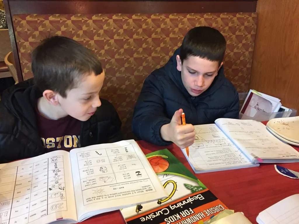 Ideas for homeschooling on the go because we aren't always home when we homeschool.