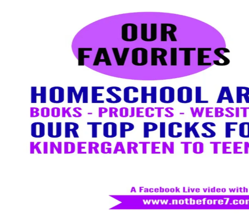 From elementary school to high school, hear what we used for art in our homeschool.