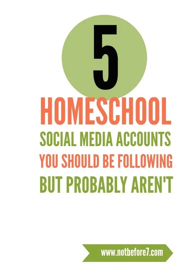 Five Homeschool Social Media Accounts You Aren't Following But Should Be