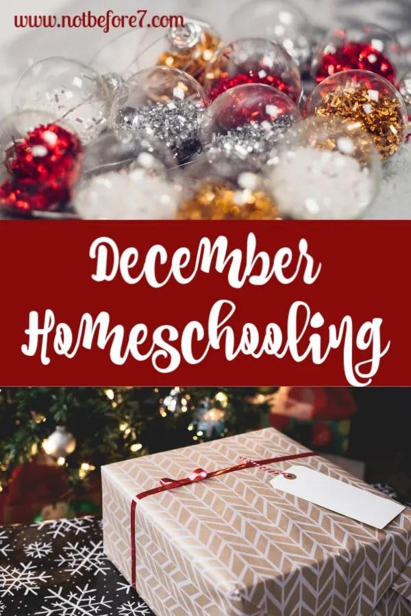 December Homeschooling
