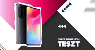 Xiaomi Mi Note 10 lite teszt