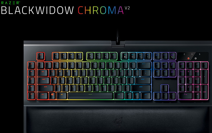 Razer Mechanische Gaming Tastatur BlackWidow Chroma V2