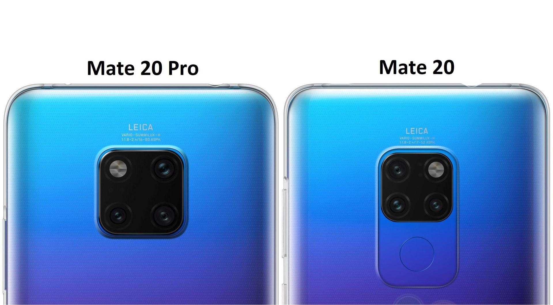 Huawei Mate 20 Und Mate 20 Pro Haben Unterschiedliche Triple Cams Notebookcheck Com News