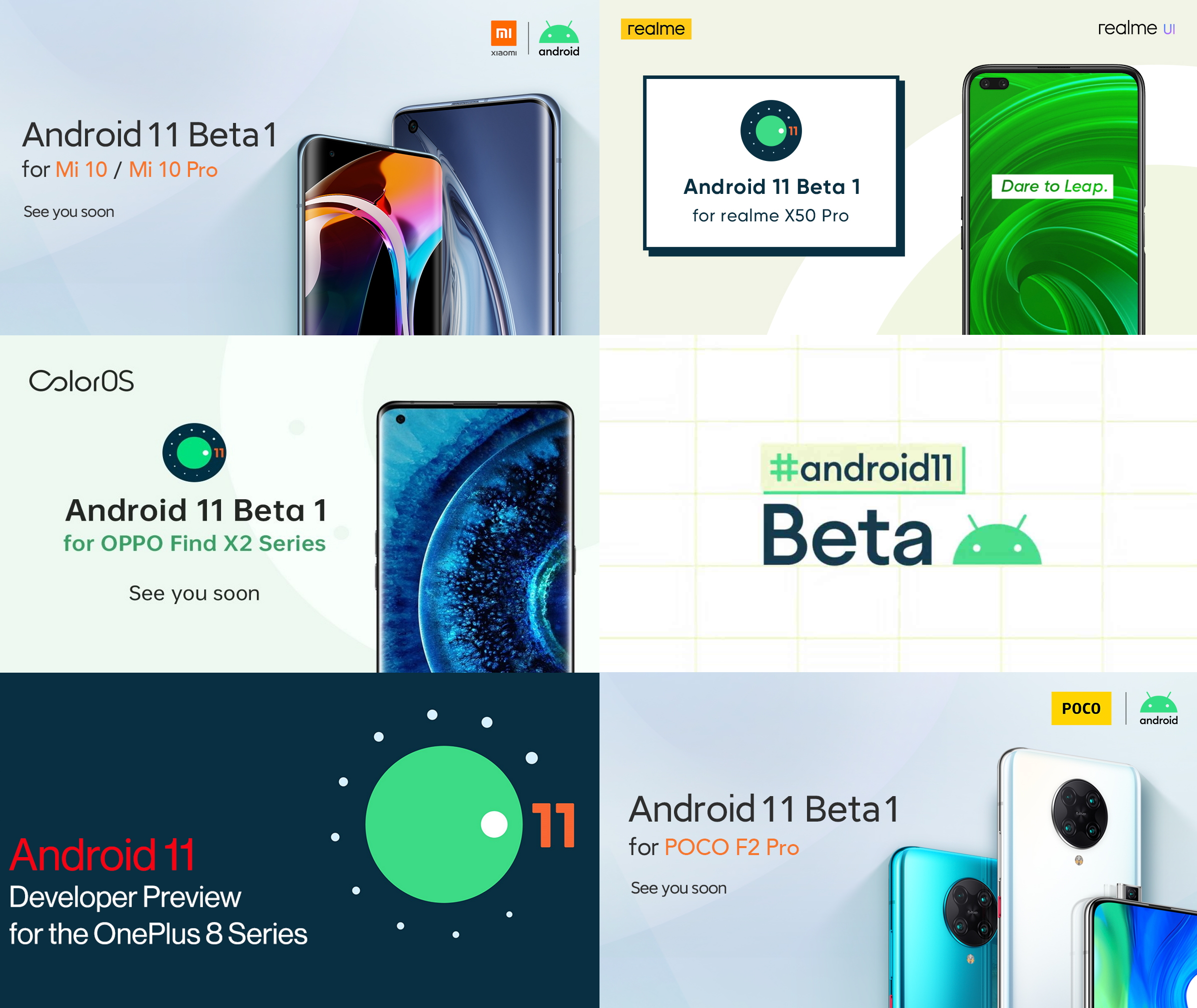 OnePlus, Poco, Realme and Xiaomi all announce Android 11 beta ...