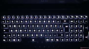 Aero 15 OLED XC - Keyboard backlight