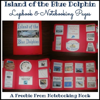 Freebie: Island of the Blue Dolphin Lapbook & Notebooking Pages