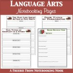 Freebies: Language Arts Notebooking Pages