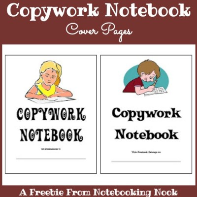 Freebie: Copywork Notebook Cover Pages