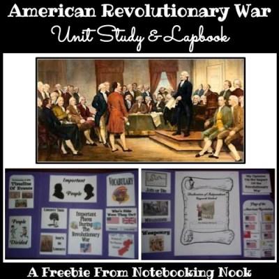 Freebie – American Revolutionary War Unit Study and Lapbook