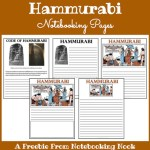Freebie: Hammurabi Notebooking Pages