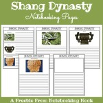 Freebie: Shang Dynasty Notebooking Pages