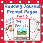 Freebie: Reading Journal Prompts: Setting Prompts