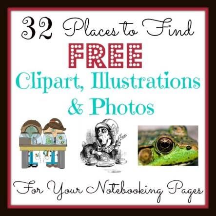 32 Places to Find FREE Clipart, Illustrations & Photos for Your Notebooking Pages