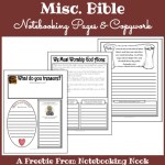 Freebies: Misc. Bible Notebooking Pages & Copwork