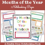 Freebie: Months of the Year Notebooking Pages